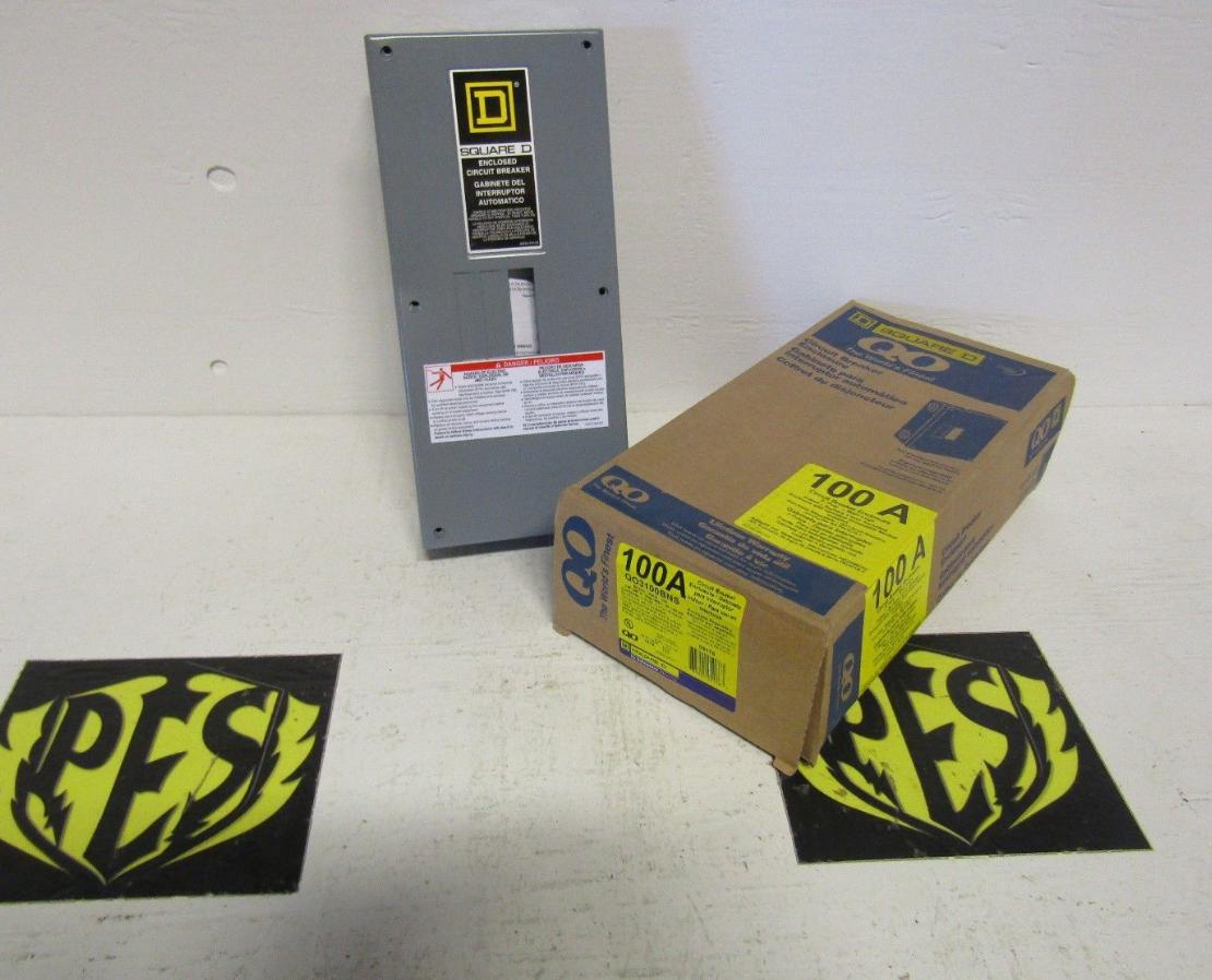 New In Box Square D Qo3100bns 100 Amp 240 Volt Indoor Enclosure Enclosed Circuit Breaker