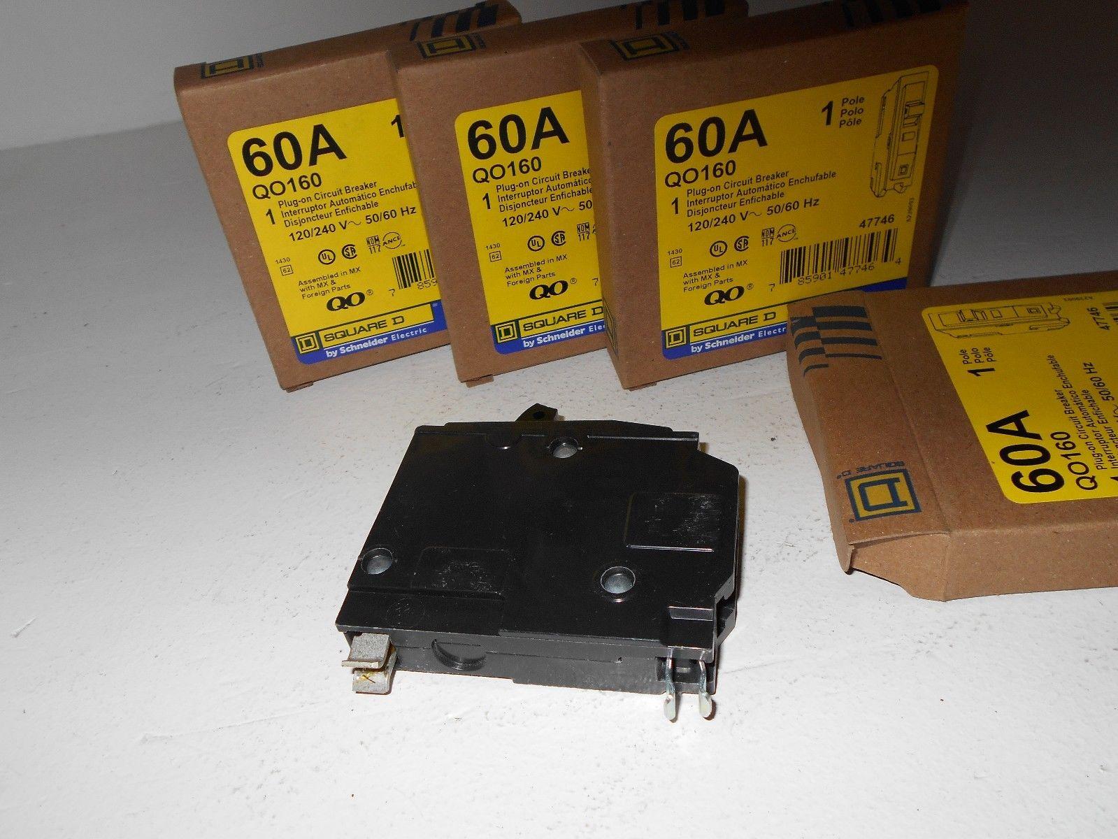 New in box qo160 1 pole 60 amp 120v qo plug in breaker 120v new in box qo160 1 pole sciox Image collections