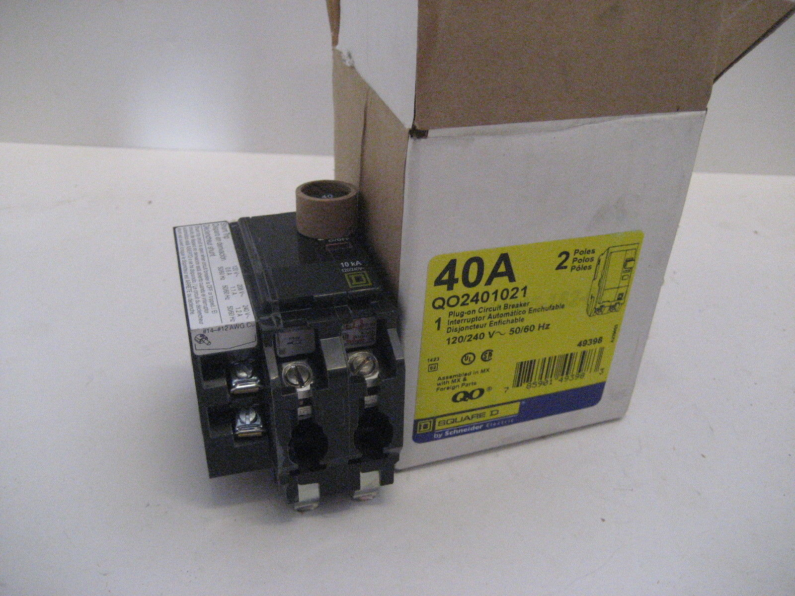 New In Box Square D Shunt Trip Breaker Qo2401021 Qo240 1021 Qo Trippingcircuitbreakerpaneljpg