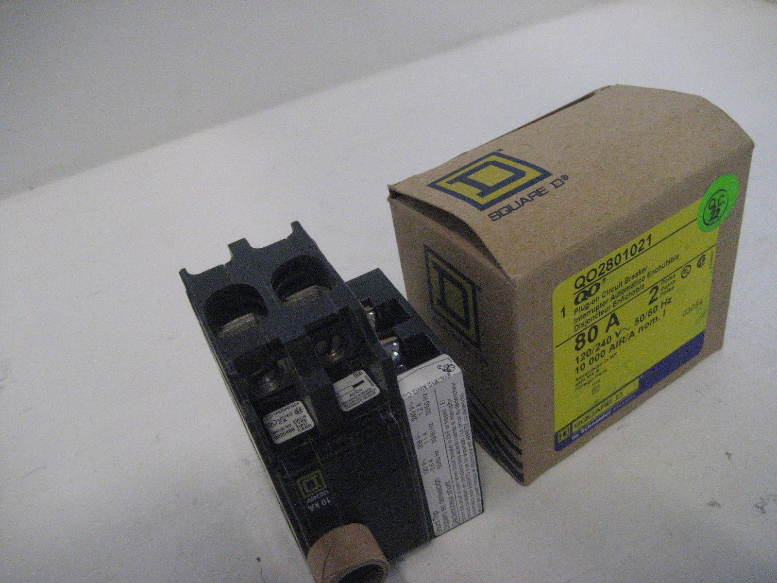 New Square D Shunt Trip Breaker Qo2801021 2 Pole 80 Amp Qo How Do Breakers Work