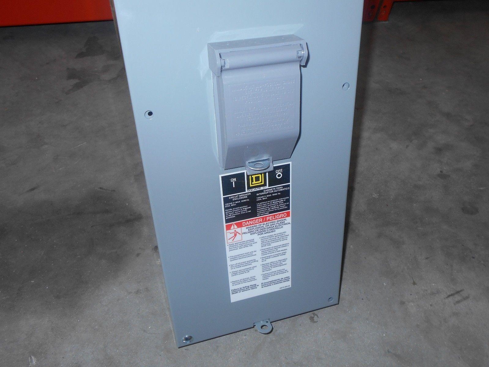 Nib Square D Qom22225nrb Qom2 Breaker Enclosure Disconnect W Brkr Nema Outdoor