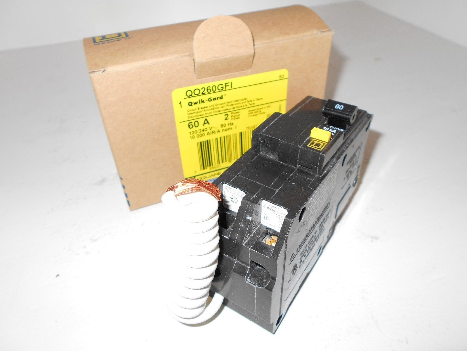 New in box nib square d qo260gfi qo 2 pole 60 amp ground fault new in box nib square d qo260gfi qo 2 pole 60 amp ground fault breaker greentooth Choice Image