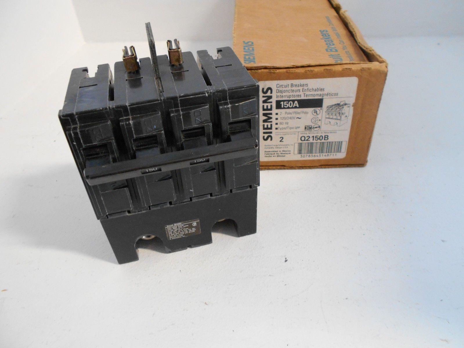 NEW IN BOX SIEMENS ITE Q2150B 150 AMP 2 POLE 240 V MAIN BREAKER PLUG ...