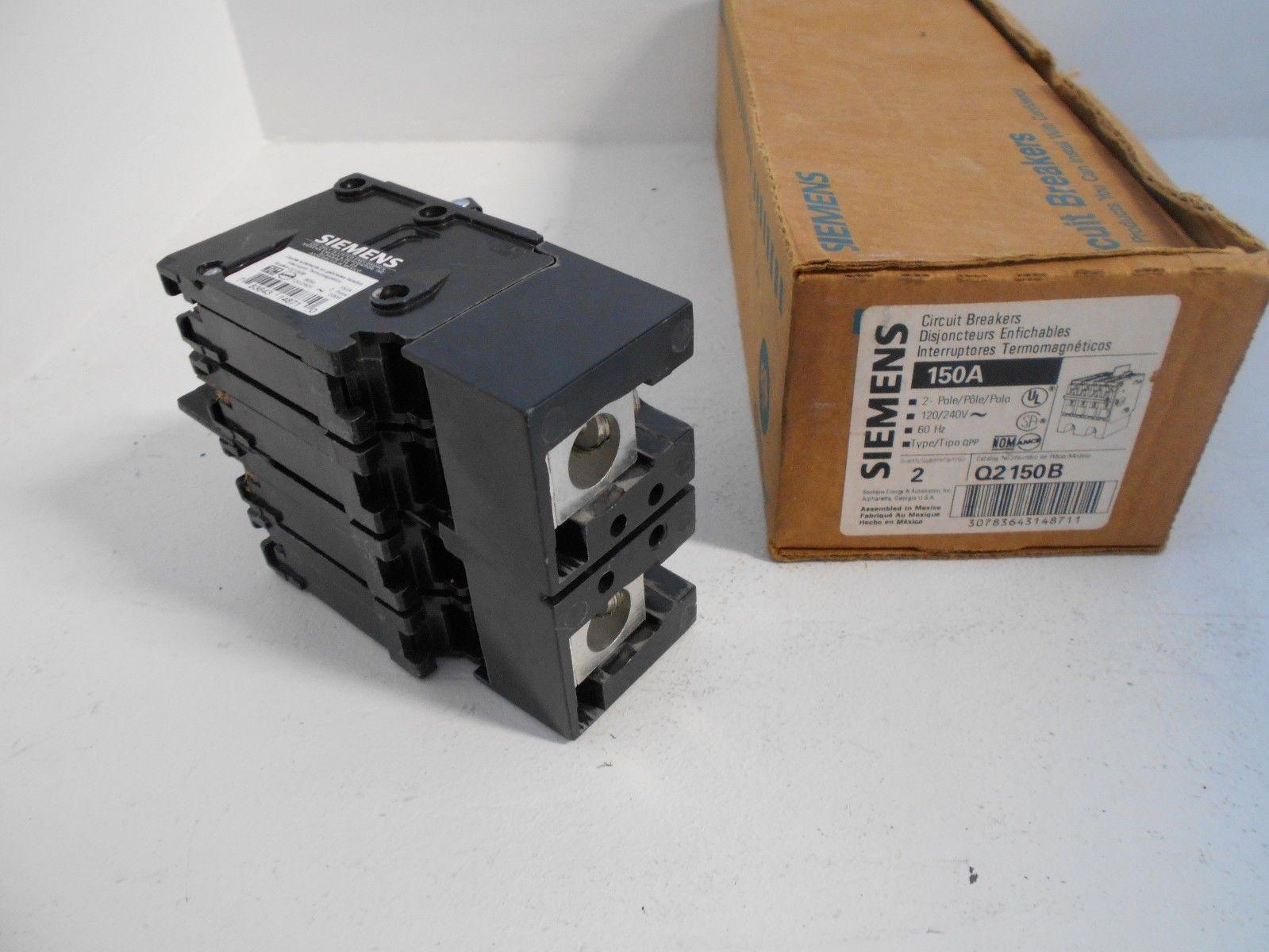 New In Box Siemens Ite Q2150b 150 Amp 2 Pole 240 V Main Breaker Plug Fuse