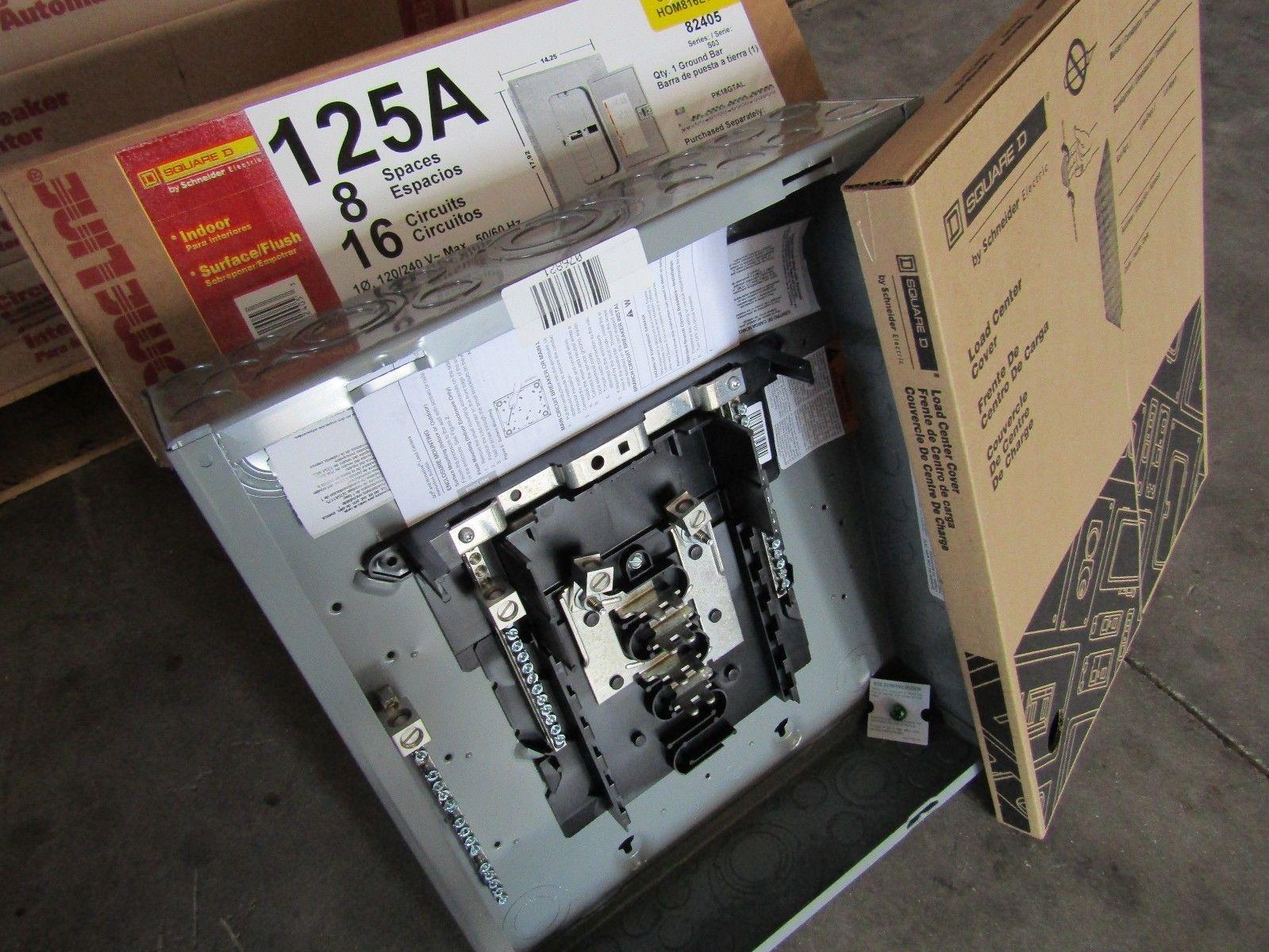 New Square D Hom816l125tc 8  16 Circuit 125 Amp Mlo Sub