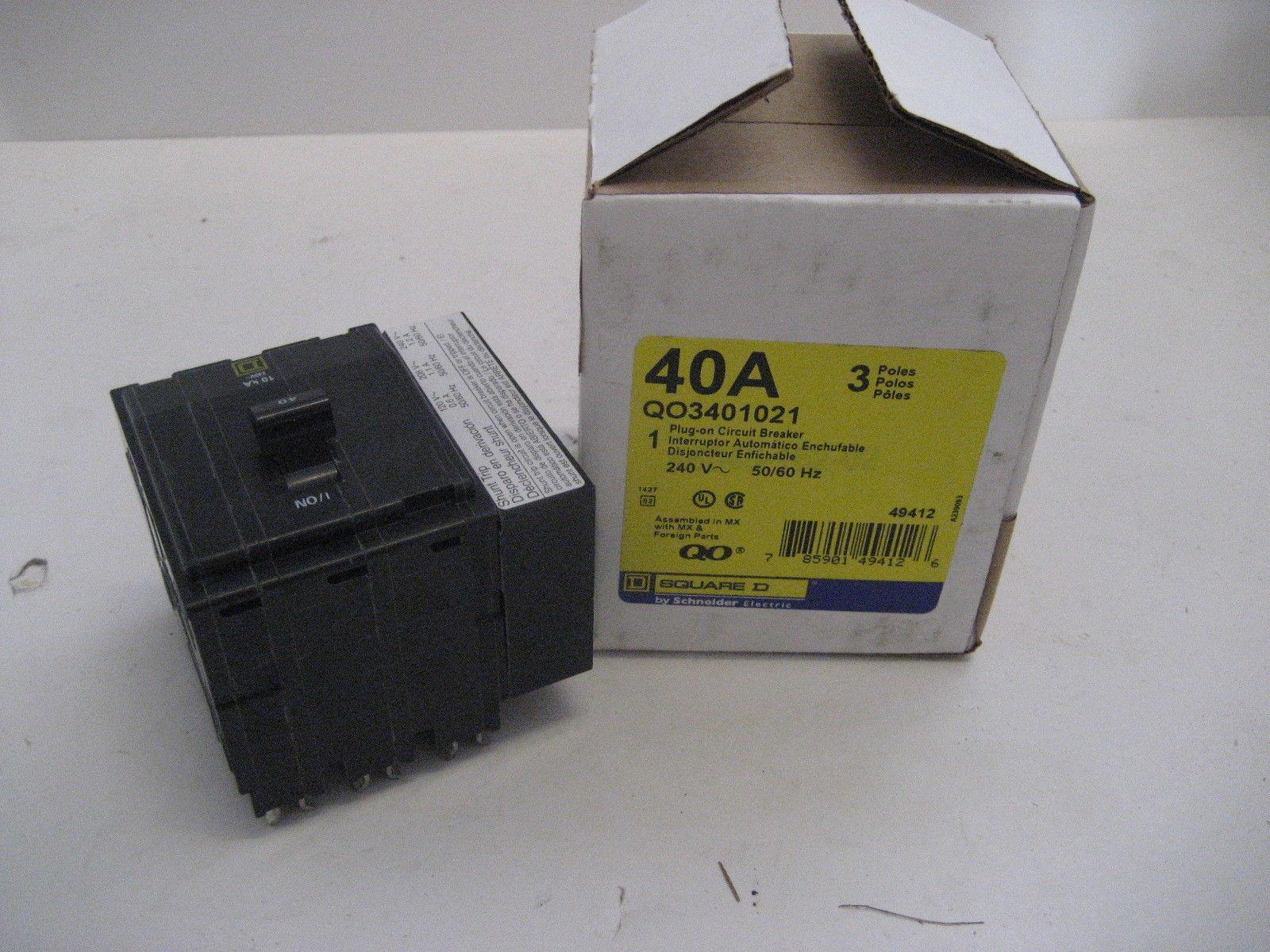 480 volt shunt trip wiring diagram ~new~square d qo3401021 3 pole 3 phase 40 amp 240 volt ...