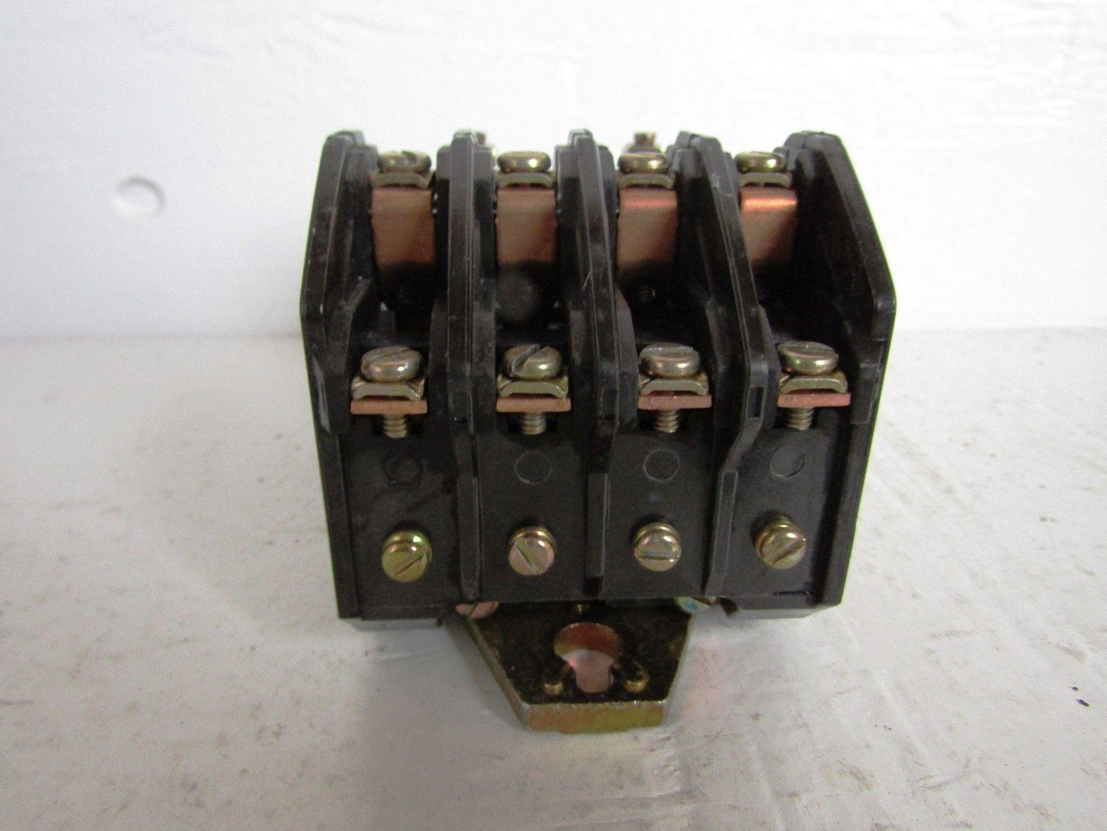 SQUARE D 8903LO40V02 4 POLE 30 AMP 600 VOLT 120 VOLT COIL LIGHTING CONTACTOR