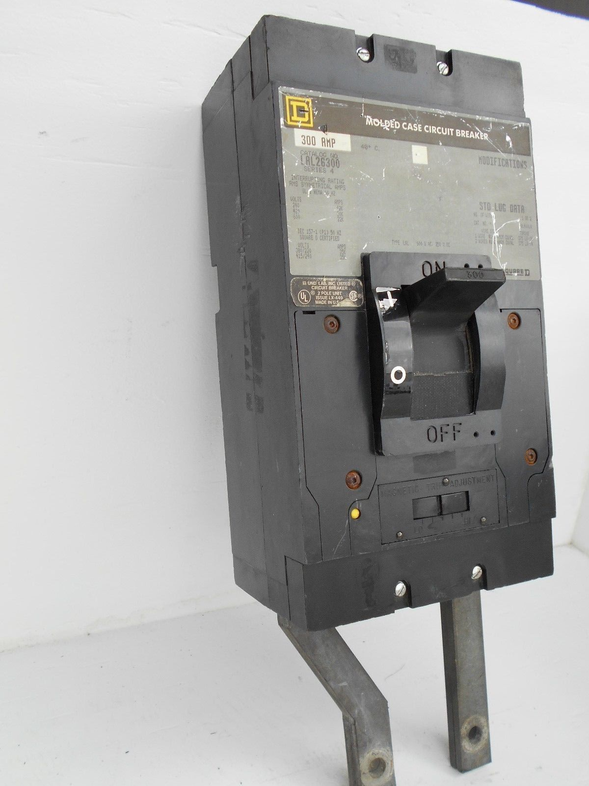 60 Amp Breaker >> SQUARE D LAL26300 BREAKER 300A 600V 2 POLE   Powered Electric Supply