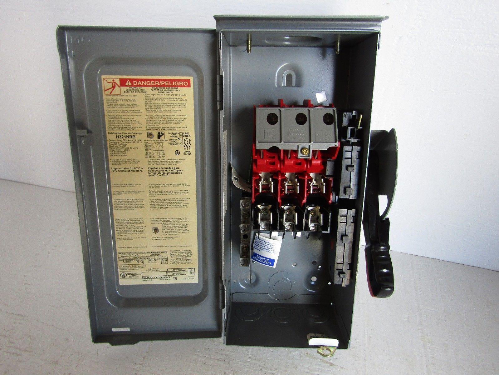 New Square D H321nrb 3 Pole 240 Volt 30 Amp Fusible