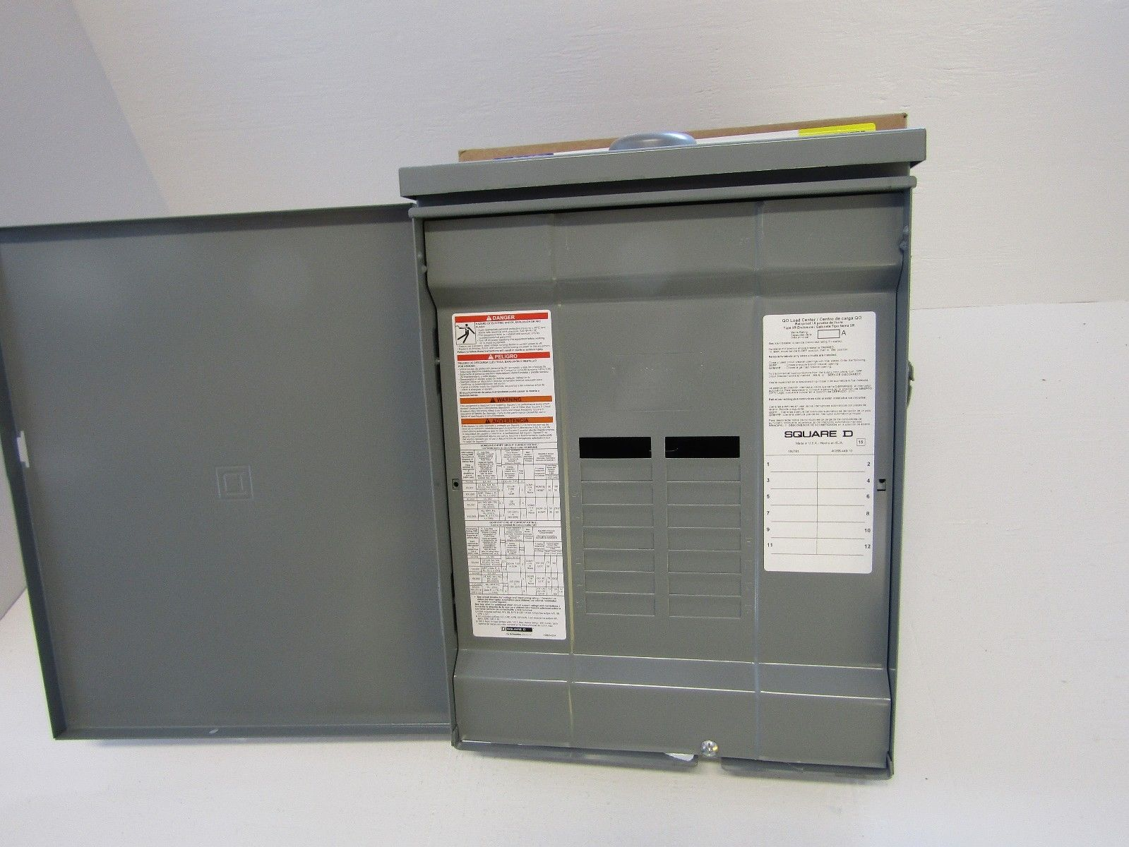 Nib Square D Qo112l125grb 24 Circuit 125a Main Lug Single Phase Space 4circuit Outdoor Singlephase Breaker Panel