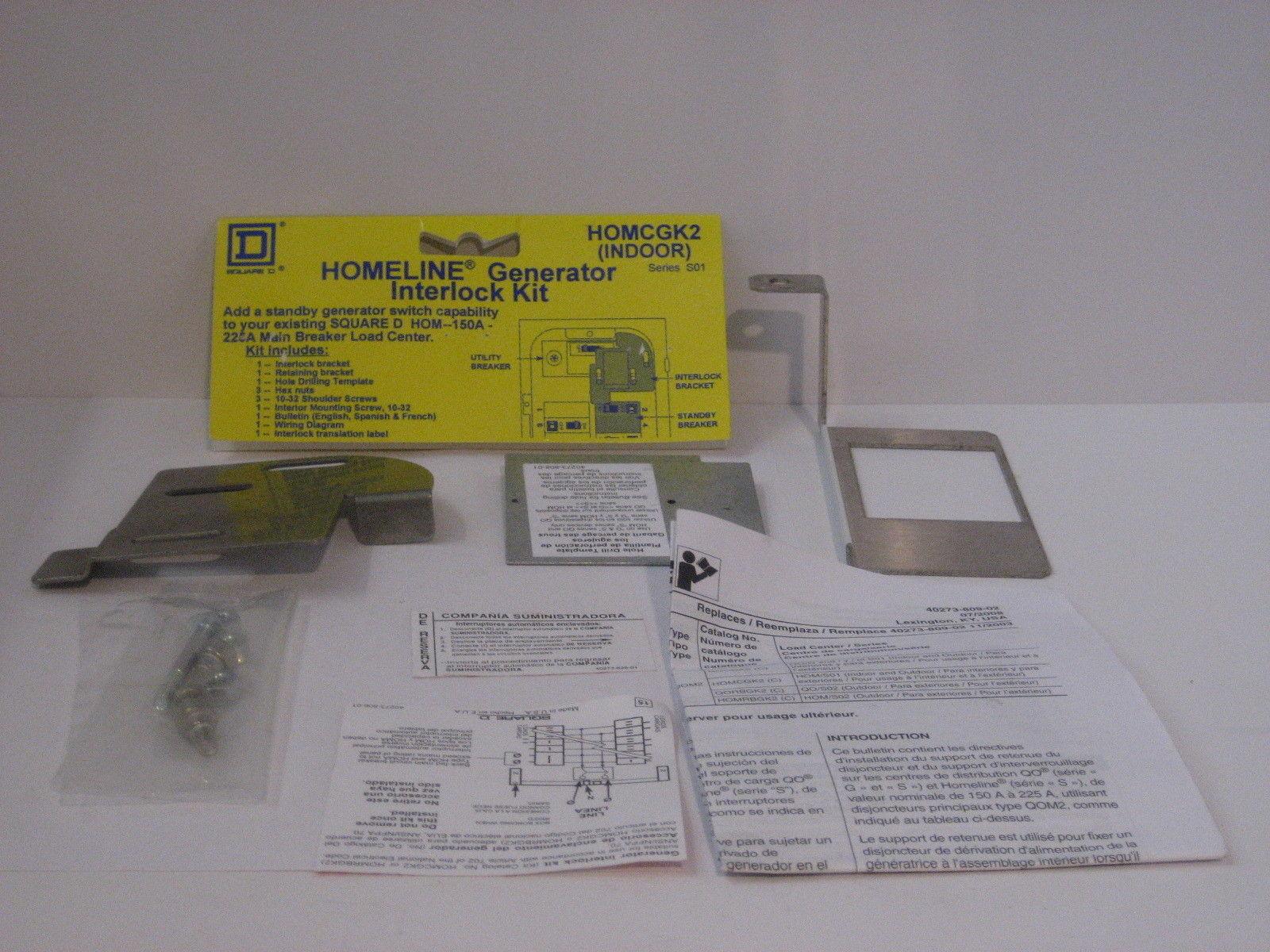 PRICE DROP NEW Square D HOMCGK2C Generator Interlock Kit LOWEST