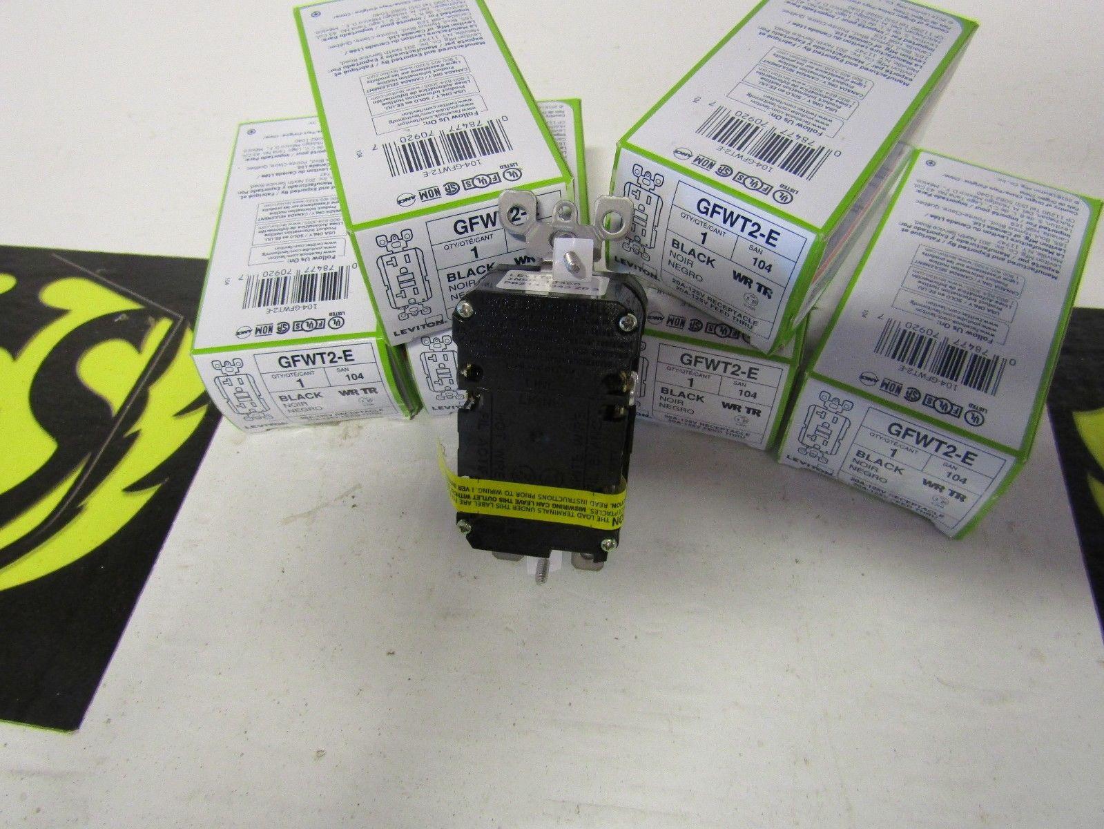 LEVITON GFWT2-E 20 AMP 125 VOLT WR TR BLACK RECEPTACLE   Powered ...