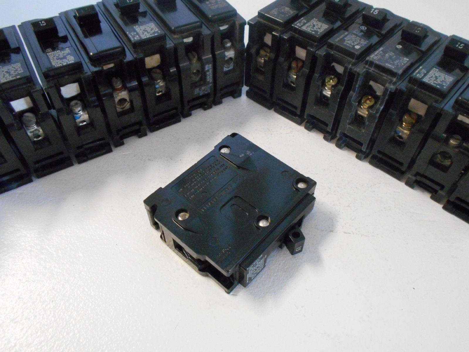NEW LOT OF 10 SIEMENS Q115 1 POLE 15 AMP 120 VOLT CIRCUIT BREAKER ...