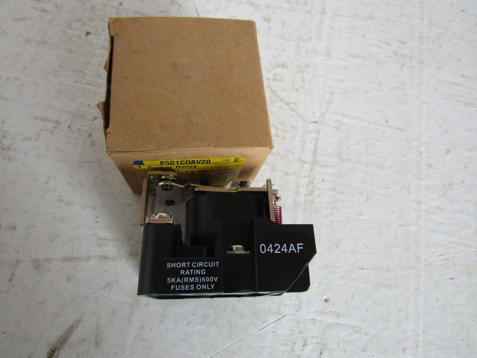 New Square D 8501c08v20 Spst Power Relay Powered Electric Supply Rating