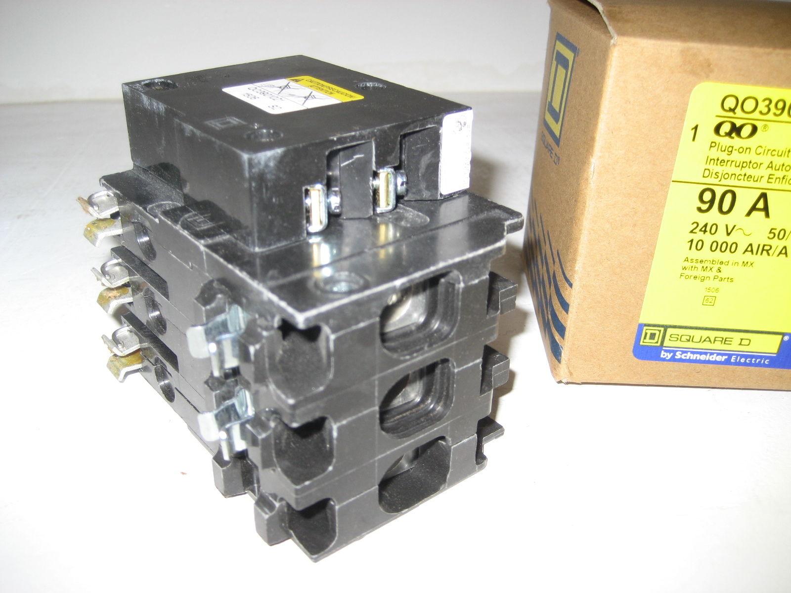 Wiring Square D Shunt Mx Complete Diagrams 3 Phase Breaker Panel Diagram New Qo3901021 Trip Pole 90 Amp Qo Rh Poweredelectricsupply Com Manual