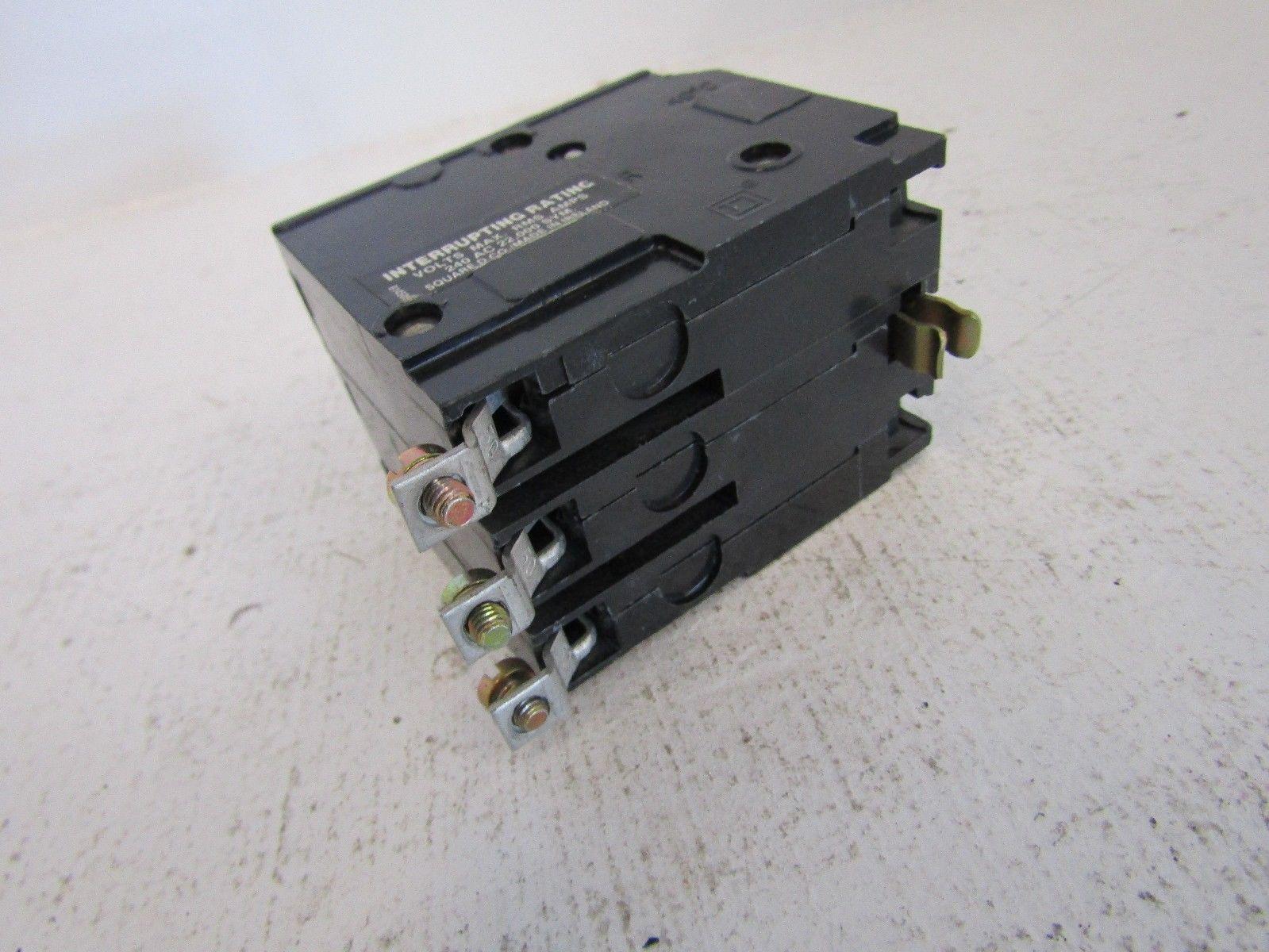 New Square D Qob315vh 3 Pole 15 Amp 240 Volt Circuit Breaker Qo Fits Home Wiring