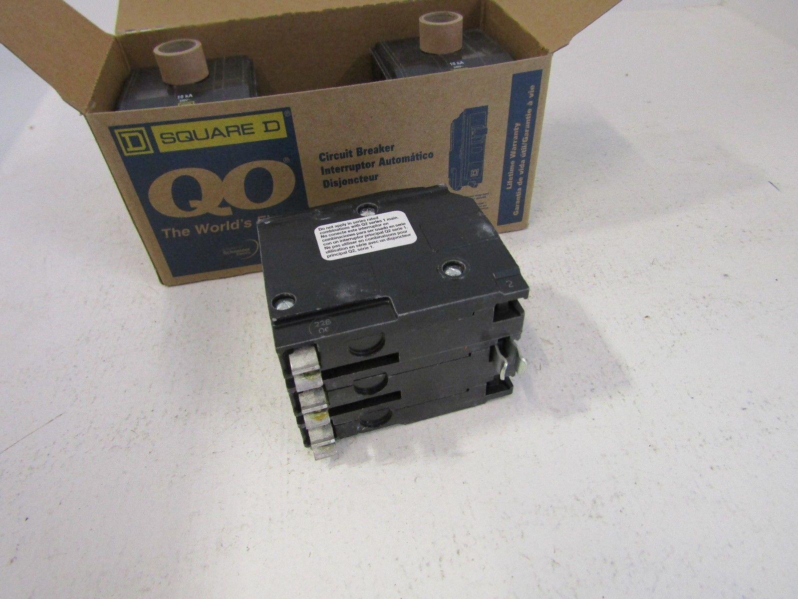 NEW LOT OF 3 SQUARE D QO320 3 POLE 20 AMP CIRCUIT BREAKERS FITS NQ ...