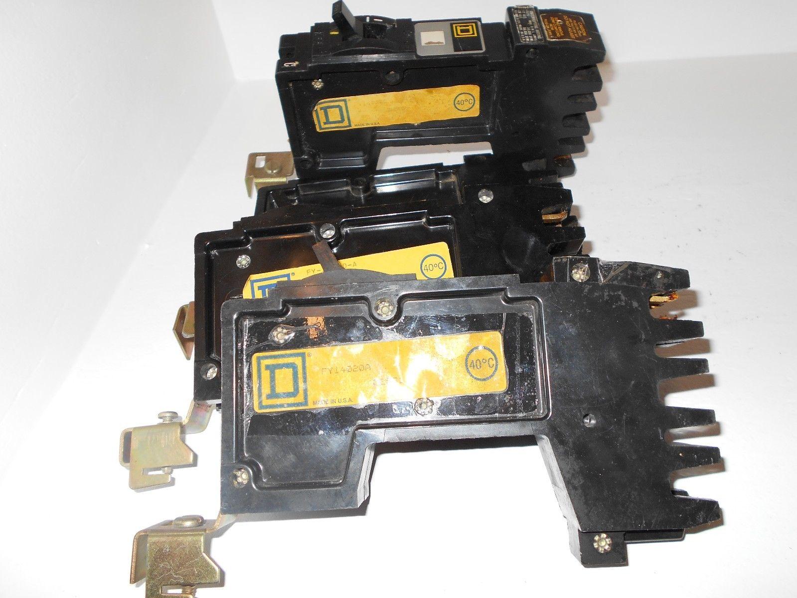 New Lot Of 4 Square D Fy14020 1 Pole 20 Amp 277 Volt I Line Circuit 25a Generator Breaker 10 Ebay