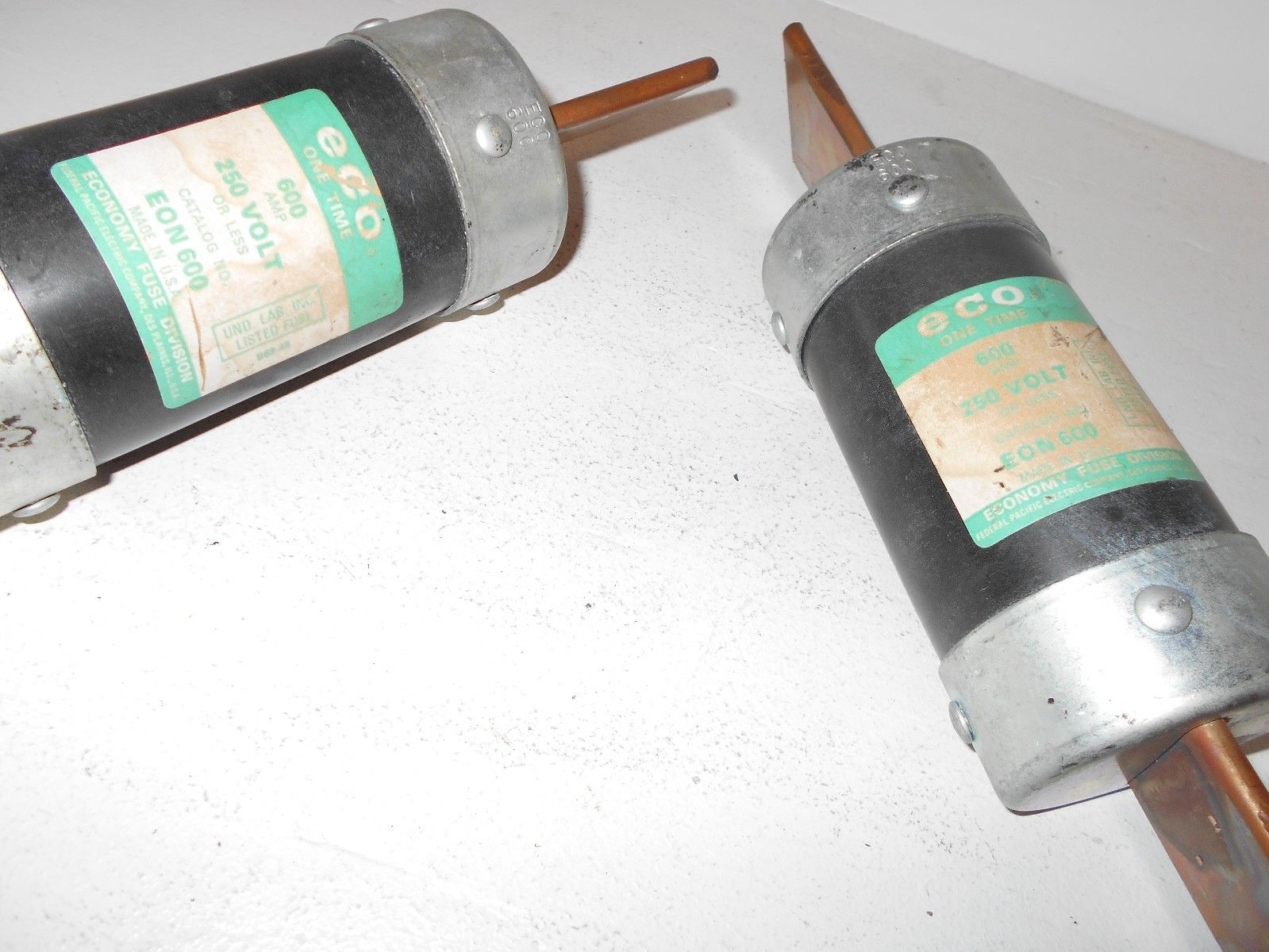 Lot Of 2 Federal Pacific Eon600 Class H Fuses 600 Amp 250v Eos Fln R Fuse Box