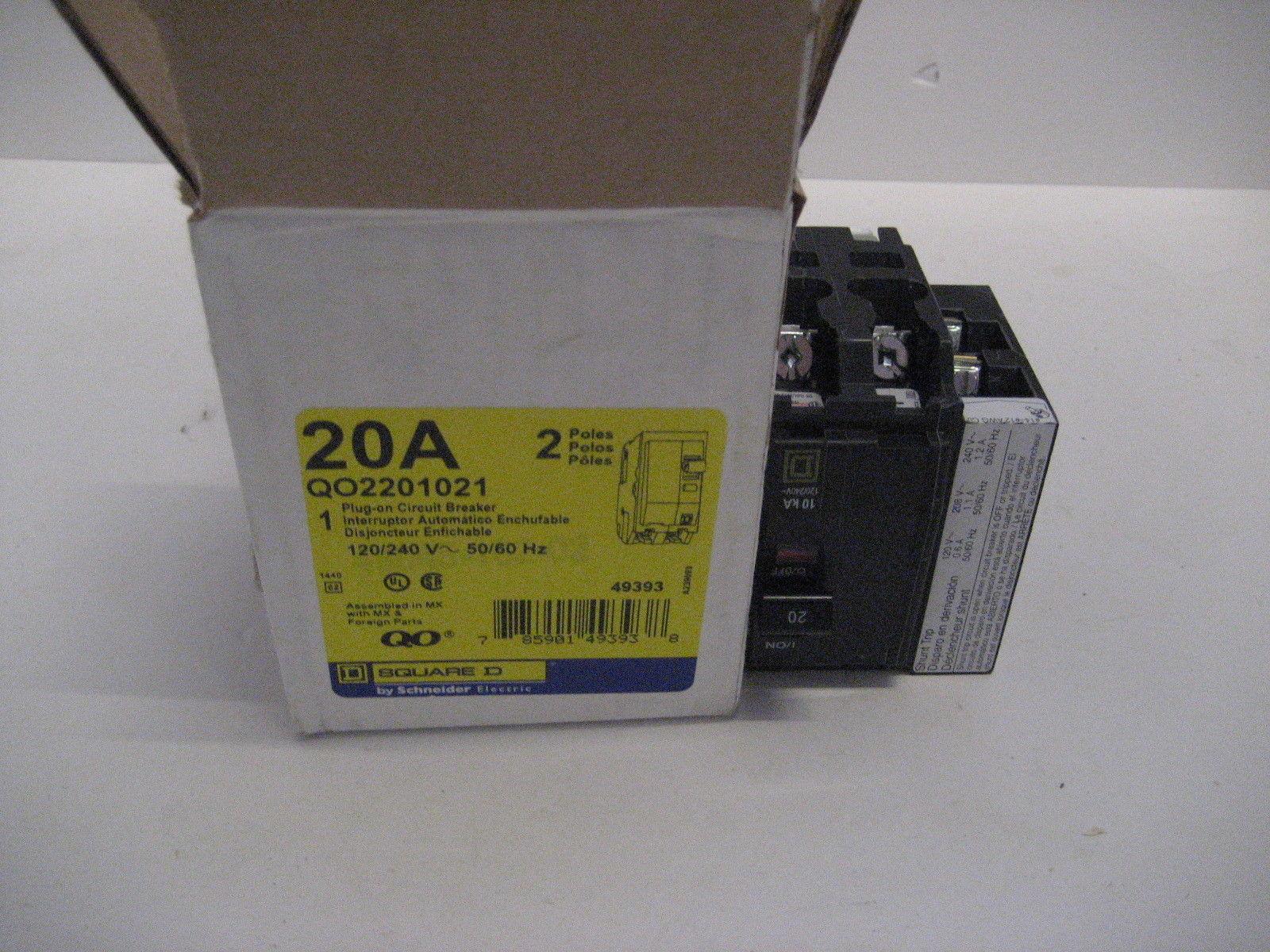 New In Box Square D Breaker Qo2201021 Shunt Trip Qo220 1021 Qo Trippingcircuitbreakerpaneljpg