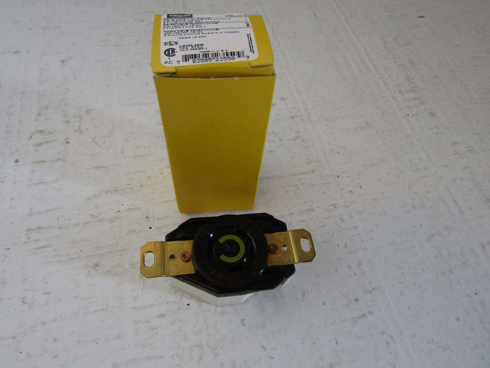 LOT Hubbell 20A 125V Twist-Lock Receptacles 2310A 5