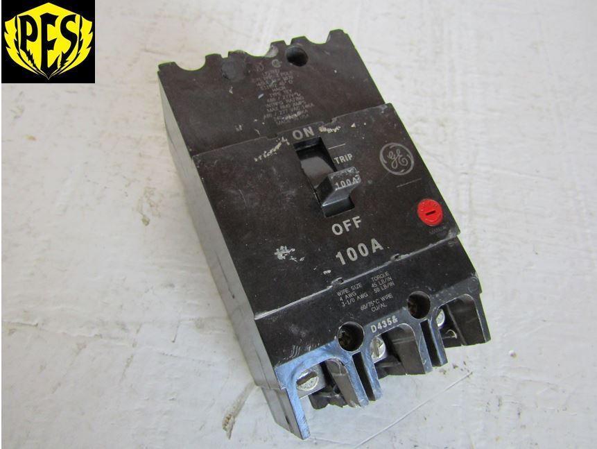 Ge General Electric Tey3100 3 Pole 100 Amp 277 480 Volt