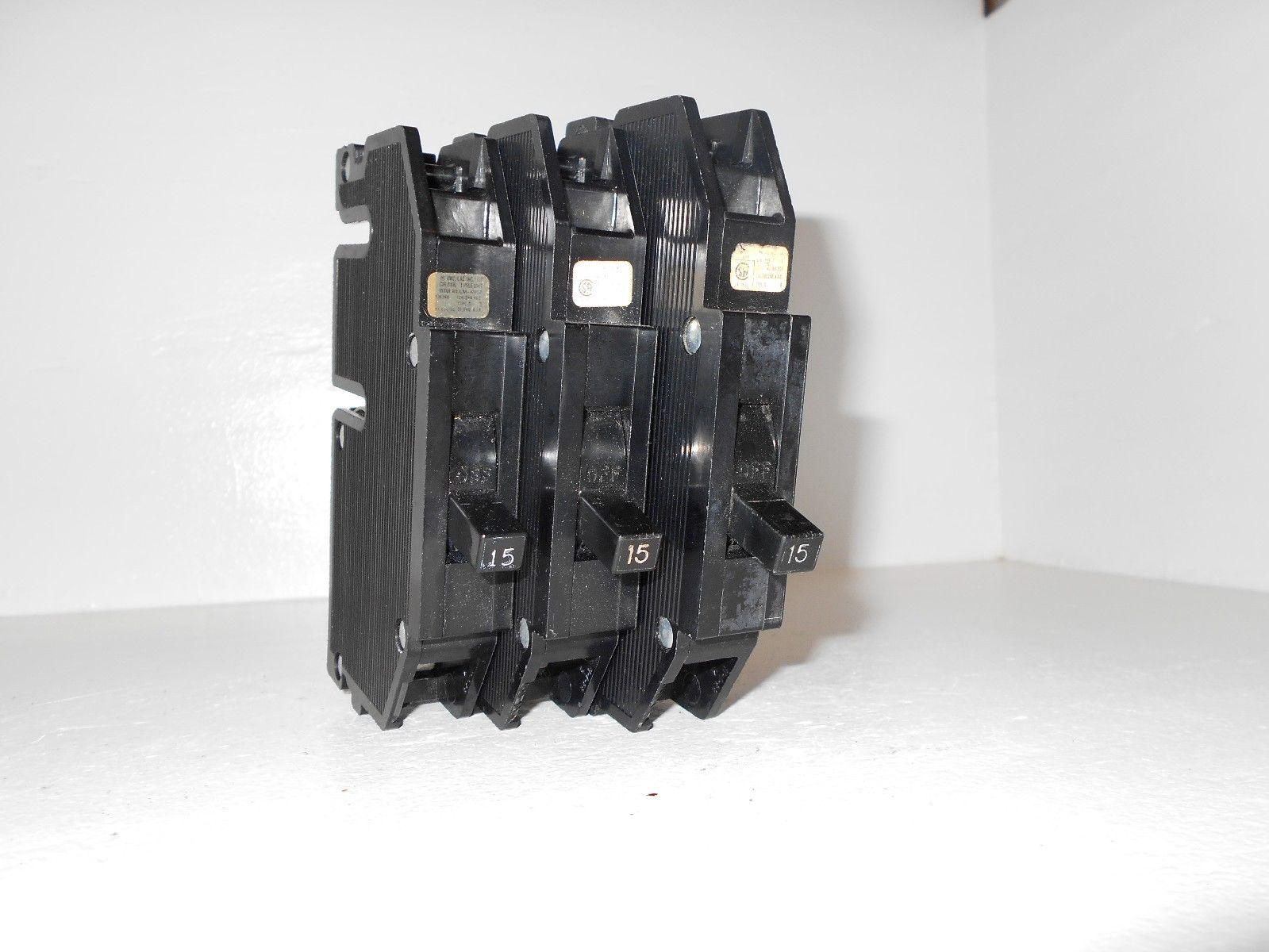 Lot Of 3 Zinsco Challenger Q15 Q115 Plug In Breaker 1 Pole