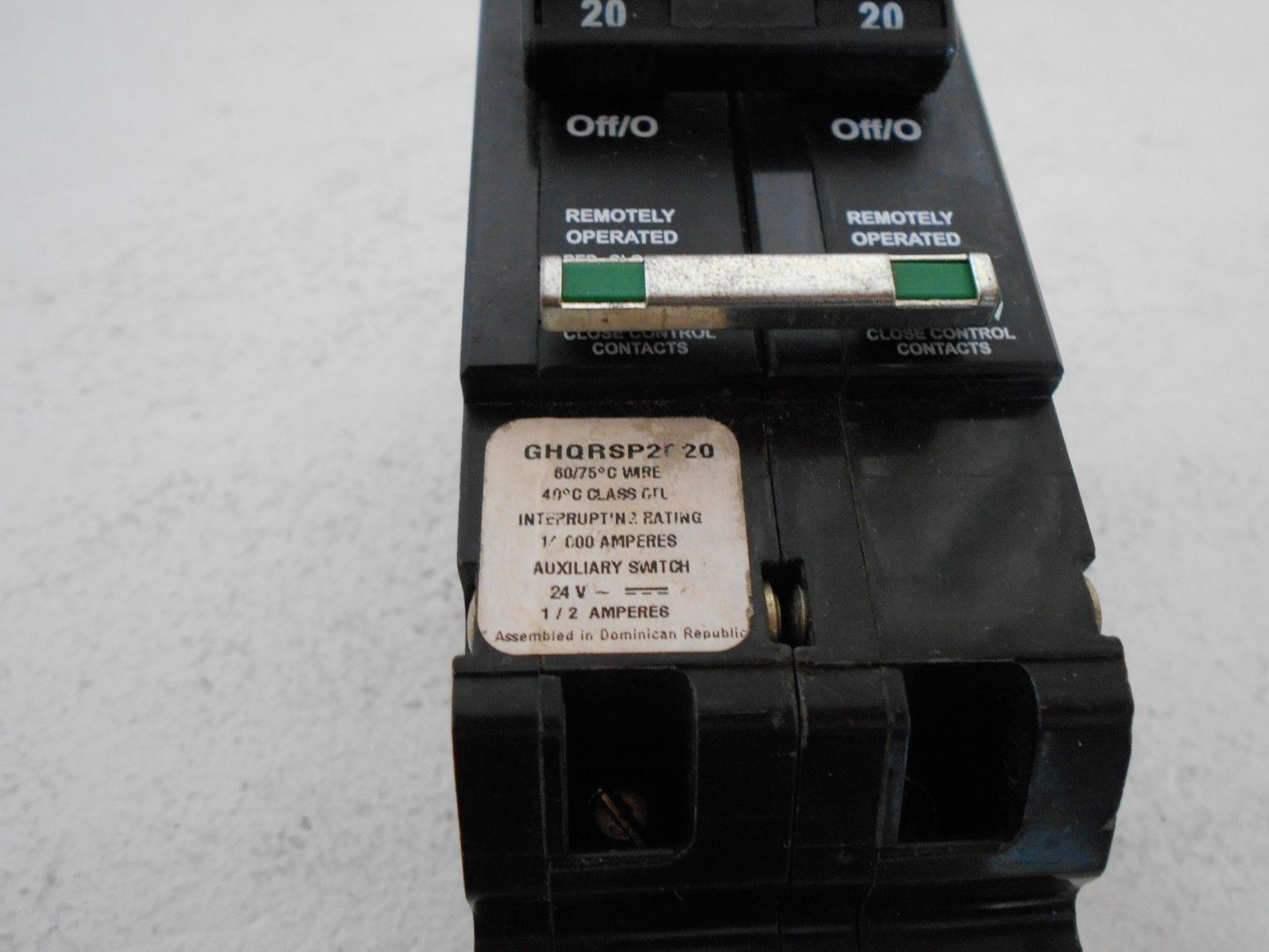 NEW CUTLER HAMMER EATON GHQRSP2020 2 POLE 20 AMP 480/277 REMOTE ...