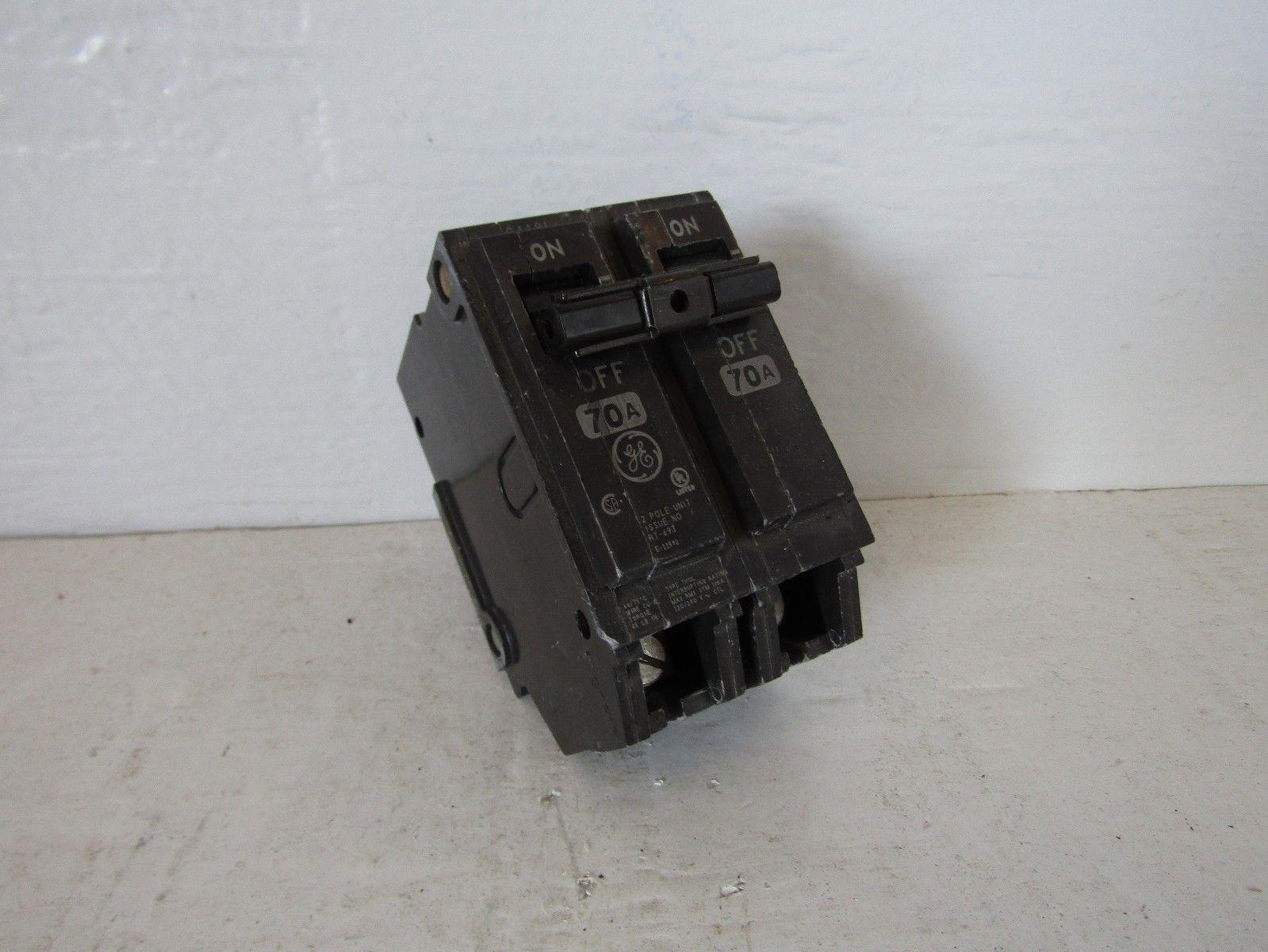NEW GE THQL2170 2 POLE 70 AMP 240 VOLT PLUG IN CIRCUIT BREAKER ...