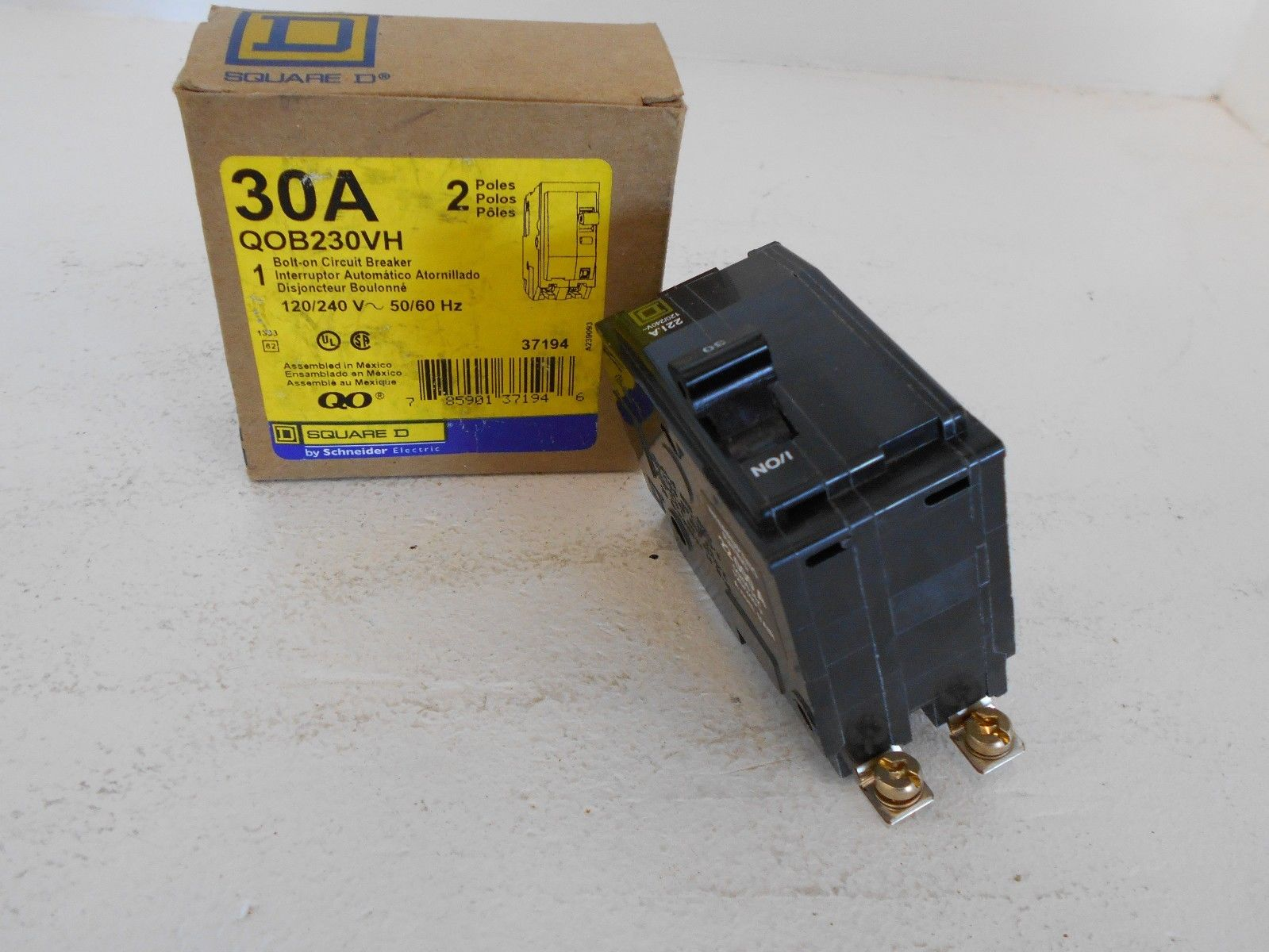 New Square D Qob230vh 2 Pole 30 Amp 120 240 Volt Bolt On Circuit Breaker Box