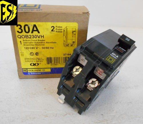 SQUARE D QOB230VH 30A 2P Bolt-on Circuit Breaker 22K