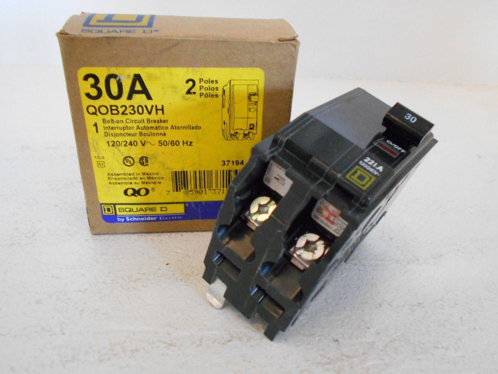New Square D Qob230vh 2 Pole 30 Amp 120 240 Volt Bolt On Circuit Fuse Box Breaker