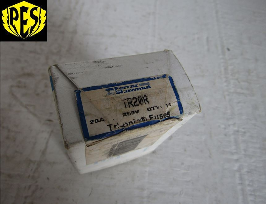 new box of 10 shawmut tr20r 20 amp 250 volt class rk5. Black Bedroom Furniture Sets. Home Design Ideas