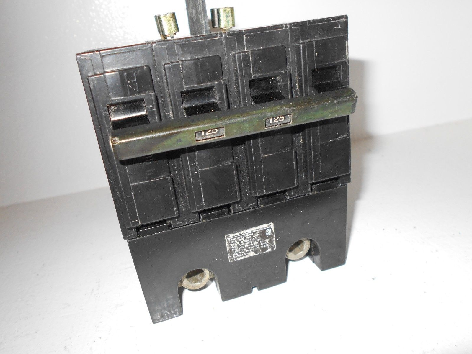 2 Pole Siemens Main Breaker Wiring All Kind Of Diagrams Gfci Diagram Ite Q2125bh 125 Amp 240 Volt High Interrupting Powered Electric Supply Box Sub Panel