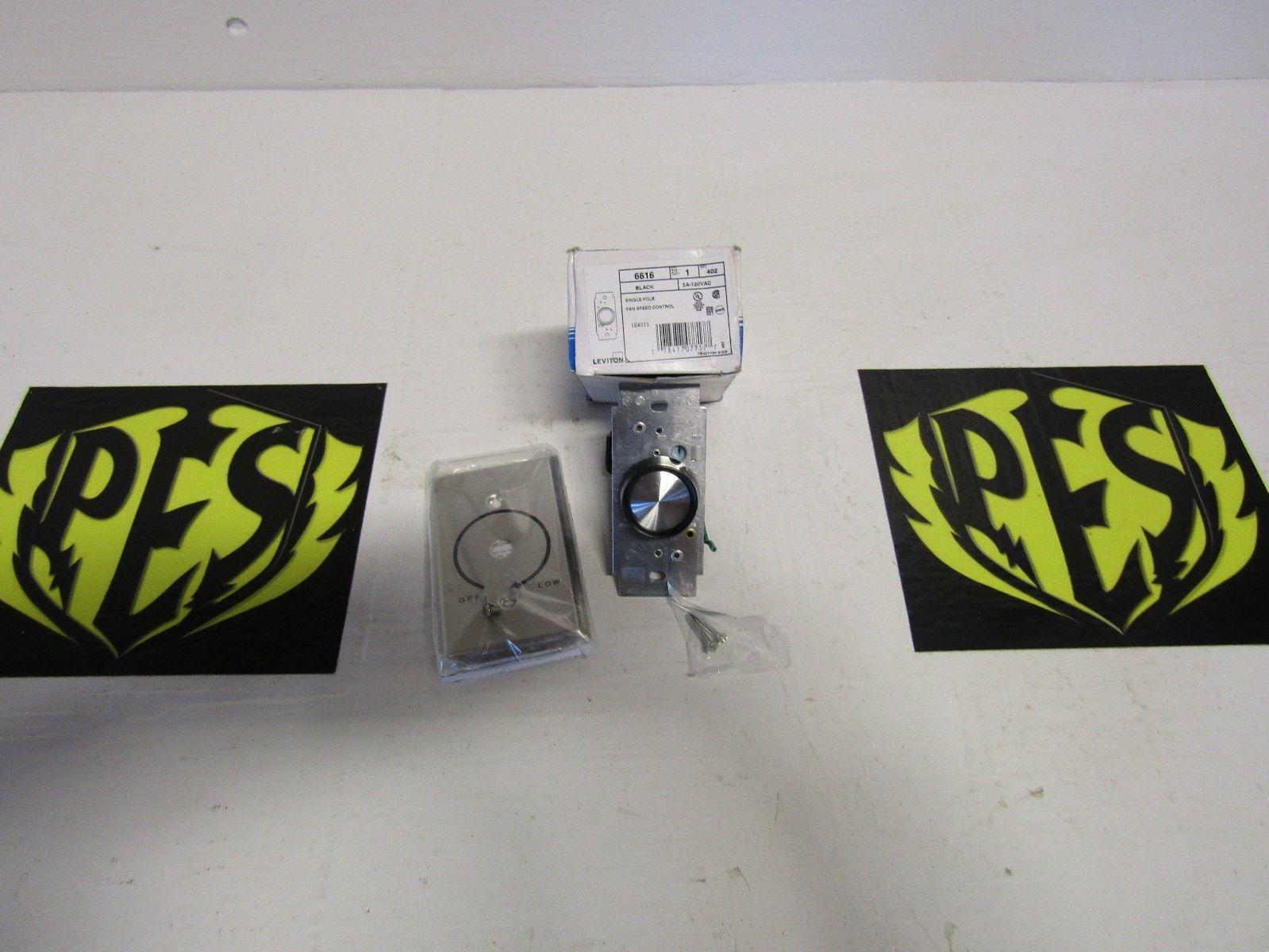 LOT OF 8 LEVITON 6616 1 POLE 5A-120VAC FAN SPEED CONTROL | Powered ...