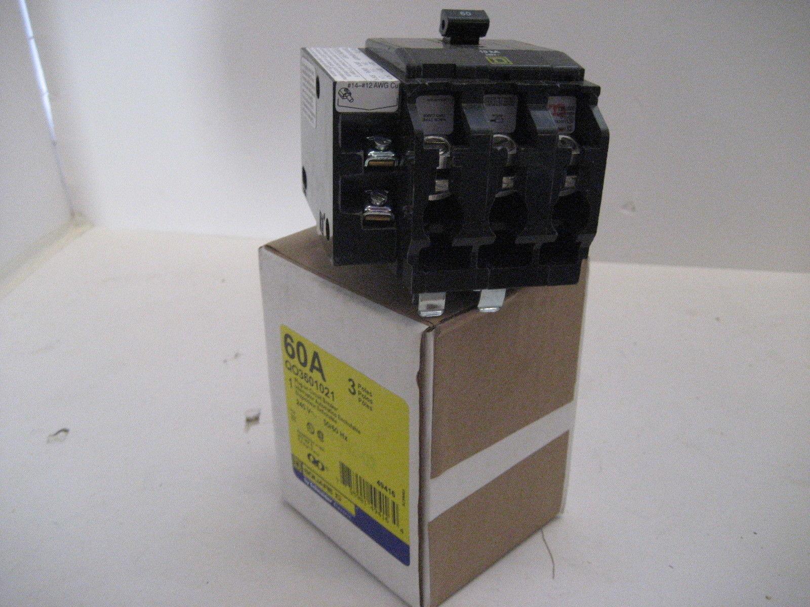New In Box Square D Qo3601021 3 Pole 60 Amp 240 Volt Shunt Trip Trippingcircuitbreakerpaneljpg