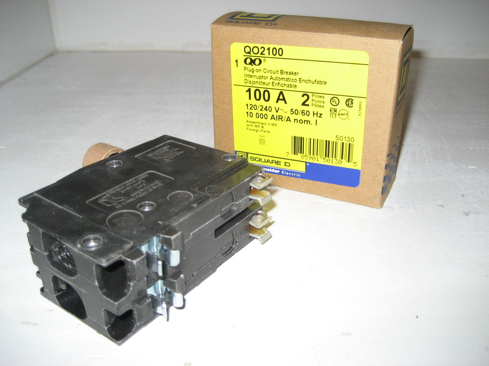 New Square D Qo2100 100 Amp Two Pole Qo Circuit
