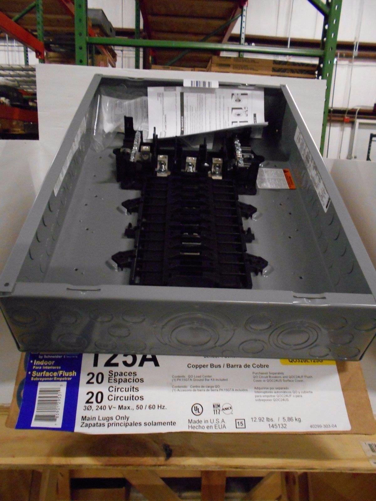 Square D Homeline 50 Amp 2space 4circuit Spa Panel Main Lug Load