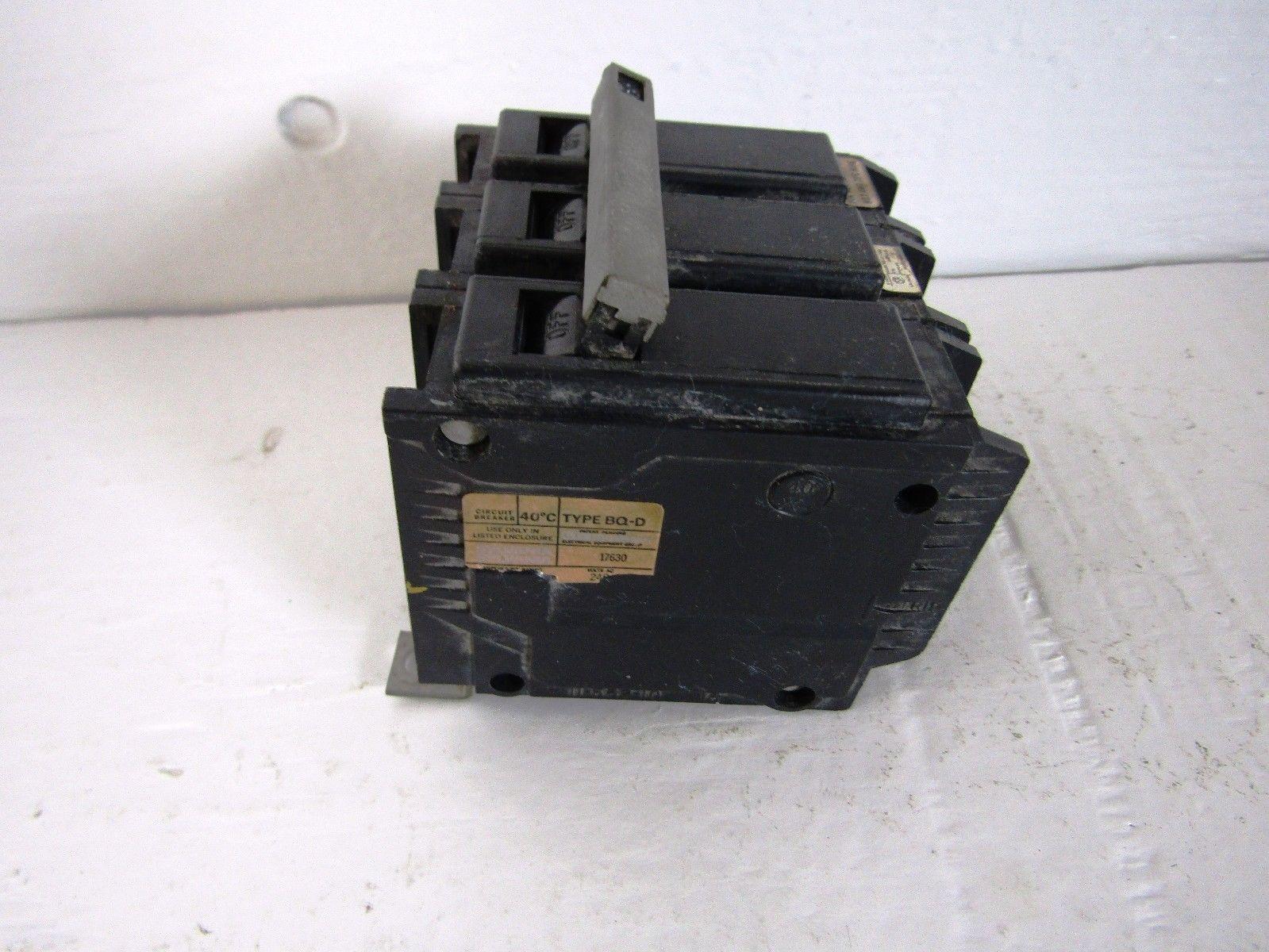 Zinsco Gte Sylvania Bq3 D100 3 Pole 100 Amp 240 Volt Circuit Breaker Fuse Box