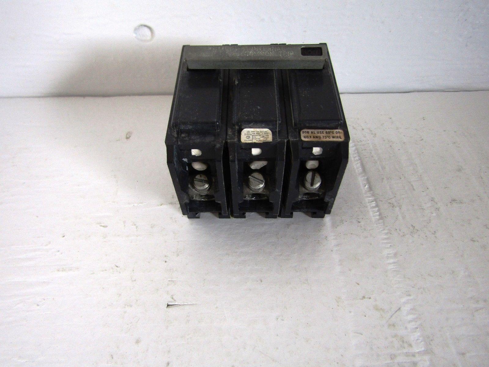 ZINSCO/GTE/SYLVANIA BQ3-D100 3 POLE 100 AMP 240 VOLT CIRCUIT BREAKER ...